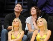 Nov 24, 2010 - Danneel Harris and Jensen Ackles at Lakers Game in Los Angeles 305874108348255