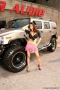 Tera Patrick, with a Hummer