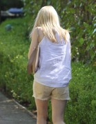 Dakota Fanning in shorts out & about in Beverly Hills, March 18, 2011