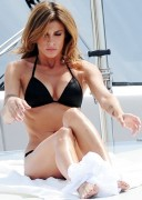 Elisabetta Canalis in a black bikini ... 1 pic