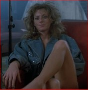 Joy Boushel panties busty spreading legs ... 14 caps from 1986's THE FLY