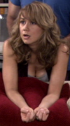 Megyn Price's cleavage bending over towards camera ... 11 non-HD caps from RULES OF ENGAGEMENT